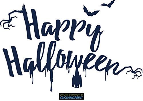 ber » Happy Halloween, 160x103,2cm, Metallic Midnight • Dekoaufkleber / Autoaufkleber / Sticker / Decal / Vinyl (Halloween-midnight)