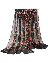 TOPSTORE01 Écharpe Femme Pareo Romantique Flor Del Ciruelo Motif Fleurs  Wrap écharpe Douce 6cdca300310