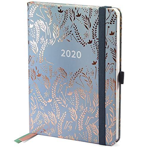 Agenda 2020 Everyday di Boxclever Press. Diario 2020 da Gennaio a Dicembre 2020. Agenda planner settimanale con panoramica mensile, pagine delle spese e pagine note con puntini. (Grigio Nuvola)