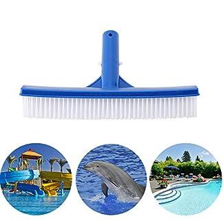 Cepillos para piscinas, Cabezal de cepillo plástico de 10 pulgadas para limpiar el musgo de la suciedad de la piscina, estanque, spa, aguas termales, tinas, paredes, azulejos, pisos