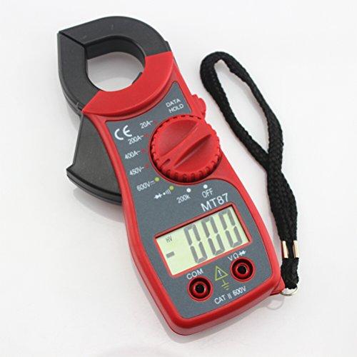 UEETEK Digital Multimeter MT87 tragbar Amper Tester Widerstand Zangenmessgerät Zangen AC / DC Strom Spannung (rot)