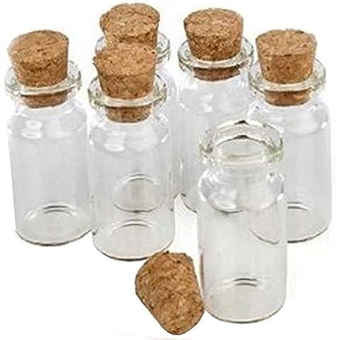 Piccolo Mini Barattoli in vetro con tappo di sughero, dimensioni:
