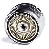 Premium Strahlregler Wassersparer Luftsprudler Mischdüse für Wasserhahn vollversilbert, Aussengewinde M24