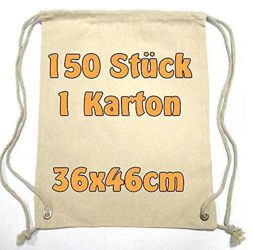 Moderne Sac de gym Sac à dos Pochette en tissu avec cordon en coton naturel 36x 46cm 150Sac Cottonbagjoe