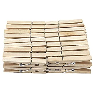 192 x WOODEN CLOTHES PEGS CLIPS PINE WASHING LINE AIRER DRY LINE WOOD PEG GARDENS