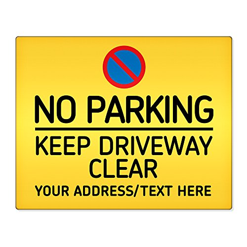personalised-no-parking-keep-driveway-clear-8x10-metal-sign-premises-home-safety-001