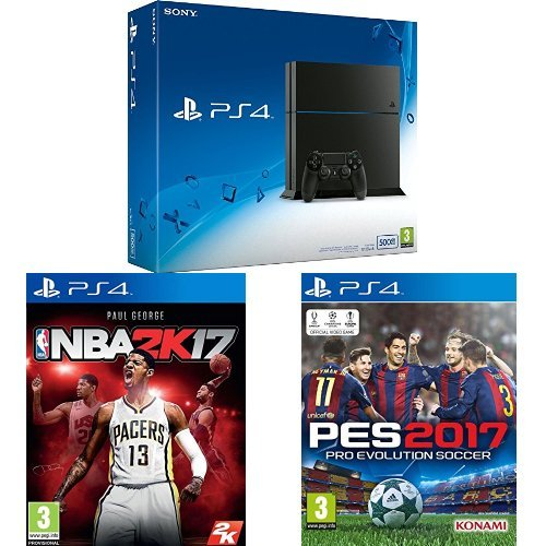 Pack PS4 500Go + NBA 2K17 + PES 2017