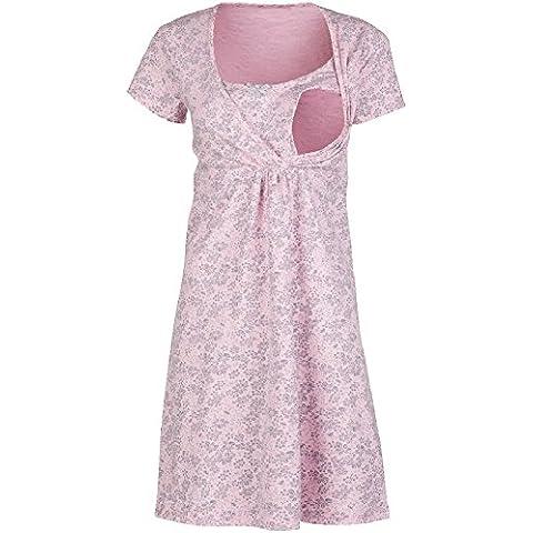 Happy Mama. Donna Prémaman camicia da notte fiori gravidanza allattamento.