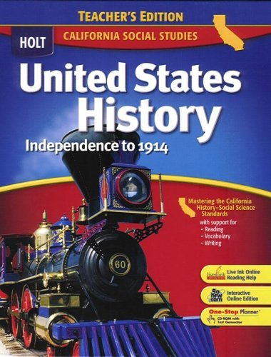 United States History Independence to 1914: California Teacher's Edition by William Deverell (2006-01-30)