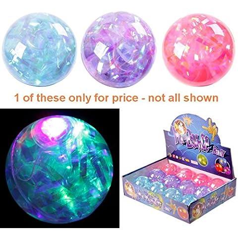 Fun Kids Blinkende gomma Bouncy Ball Multi Glitter vogliono un giocattolo il Fun multicolore e potete - Gomma Bouncy Balls