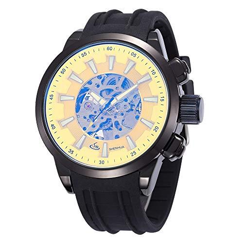SJXIN Orologio meccanico di alta qualità, Shenhua/Orologio sportivo da uomo, movimento meccanico automatico (Color : 1)