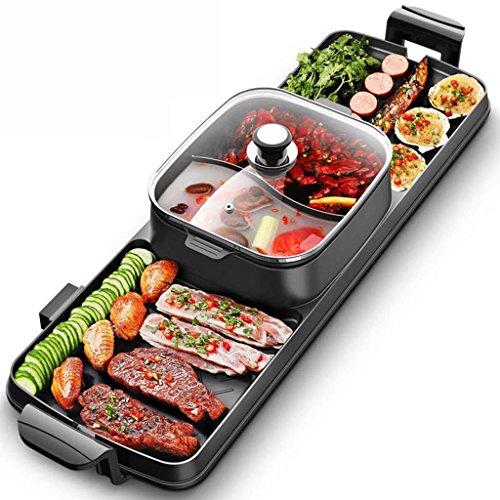 J&A Koreanische Art-Backform, rauchfreier Elektrischer Grill, Antihaft-heiße Topf-Geräte, Multifunktionsbraten Ein Topf 94CM 2000W - Hot Pot