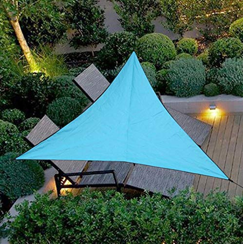 Tenda parasole triangolare, telo ombreggiante, velo triangolare, tessuto impermeabile, protezione dai raggi uv, giardino, terrazza, balcone, 3 x 3 x 3 m, blu cielo