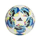 adidas Finale TTRN Soccer Ball, Hombres, Top:White/Bright Cyan Yellow/Shock Pink Bottom:Collegiate Royal/Black/Solar Orange, 4
