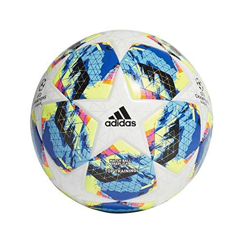 adidas Jungen Finale TTRN Turnierbälle für Fußball, top:White/Bright Cyan Yellow/Shock pink Bottom:Collegiate royal/Black/solar orange, 5