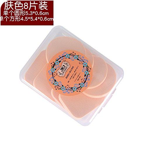 ShouYu Gruppe von 2 nass oder trocken Make-up Powder Puff Schwamm zu reinigen, waschen Sie Ihr Gesicht mit einem E020 boxed Make-up Baumwolle weiche, zarte Gesichtshaut Farbe 8 Stück (Waschen Gesicht Täglich Sie Das Reinigen)