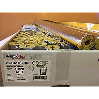 Austroflex Rohrisolierung 18 x 20mm voller Karton 42m Inhalt (1,52€/Meter) Rohrschalen alukaschiert Steinwolle Mineralfaserschale Isolierung