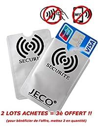 Lot de 2 - Protège Carte ANTI-RFID/PAIEMENT SANS CONTACT carte bleue visa mas...