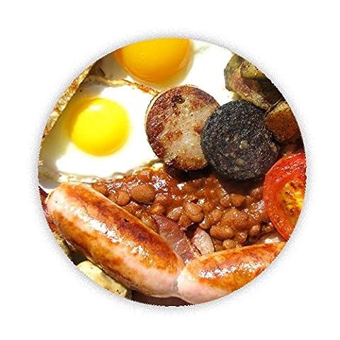 Full English Breakfast Imprimé conçu sur mesure 58mm Miroir compact