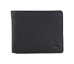 Adamis Black Leather Bi-Fold Mens Wallet W236