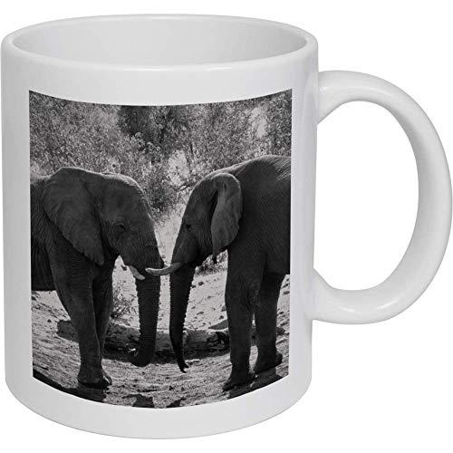 Azeeda 320ml 'Elefantes' Taza de Ceramica (MG00003617)