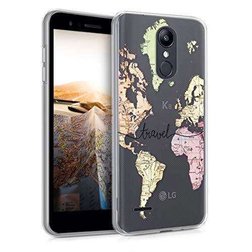 kwmobile LG K8 (2018) / K9 Hülle - Handyhülle für LG K8 (2018) / K9 - Handy Case in Schwarz Mehrfarbig Transparent (Lg Hülle Ein Handy Für)