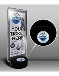 NHL Edmonton Oilers My First Game Hockey Puck Ticket Stand, One Size, Multicolored by That's My Ticket