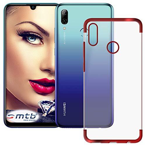mtb more energy® Schutz-Hülle Elegance für Huawei P smart 2019   Honor 10 Lite (6.21'')   rot   flexibel   TPU Frame Rahmen Case Cover Tasche Pot Metal Plating