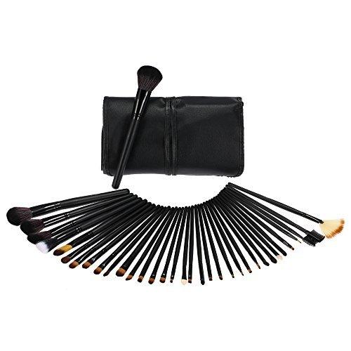 dodocool bois 32 pièces pinceaux de maquillage Kit cosmétique professionnelle Make Up Set + Housse de transport