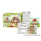 New Nintendo 3DS Animal Crossing HHD Bundle inkl. Mario World Weiß Zierblende (1 weißer N3DS, 1 Spiel, 2 Zierblenden)