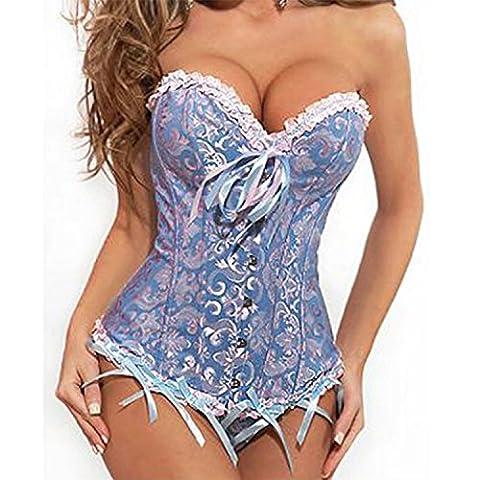 Kinikiss Plus taille femme corset bustier top lacet corset taille cerise noir S-6XL