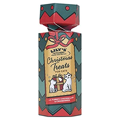 Lily's Kitchen Christmas Cracker Treat for Cats, 50 g, Pack of 3