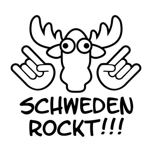 malango® Länder Schweden Rockt Elch Kopf Aufkleber Sticker Autoaufkleber Shocker Autosticker 20 x 19 cm schwarz schwarz 20 x 19 cm