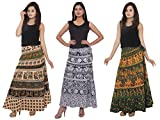 Amber Women's Cotton Skirts Combo Pack O...