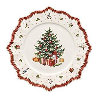 Villeroy & Boch 14-8585-2680 Plato de presentación Toy's Delight, para Navidad, 35 cm, Porcelana, 36.5×37.0x6.0 cm