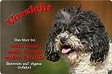 +++ BOLONKA ZWETNA - Metall WARNSCHILD Schild Hundeschild Sign - BOZ 04 T1