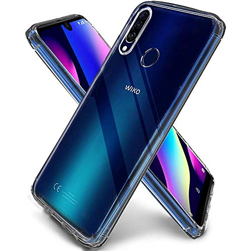 QHOHQ Coque pour Wiko View 3, Transparent Ultra Mince Anti Rayures Silicone TPU Gel Housse Transparent Souple Durable Etui Coque pour Wiko View 3 (Transparent)