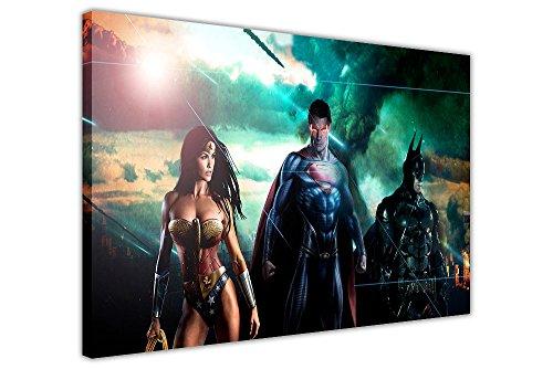 mics Superman Batman Wonder Woman Prints Raum Dekoration Superhero Poster Drucken Home Décor, canvas holz, 7- 30