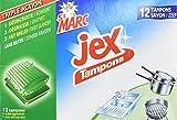 Tampons Jex St Marc - 12 Tampons Laine d'Acier avec Savon - Lot de 3