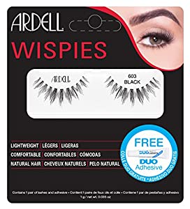 Ardell Wispies Clusters Lashes, umber 603, Black