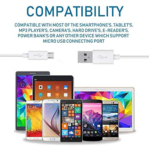 Amazon Kindle Fire HD (2013) Compatible Charger Original Adapter Like Mobile Charger|| Power Adapter || Wall Charger || Fast Charger || Android Smartphone Charger || Battery Charger || Hi Speed Travel Charger With 1 Meter Micro USB Cable Charging Cable Data Cable ( 2 Ampere , White Black )