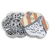 TOAOB Selbstklebend Wackelaugen Runde Schwarz Weiß 6mm - 15mm Bastelaugen Klebeaugen Gemischte Neun Größen DIY Scrapbooking Kunsthandwerk Spielzeug Zubehör Packung mit 262 Stück