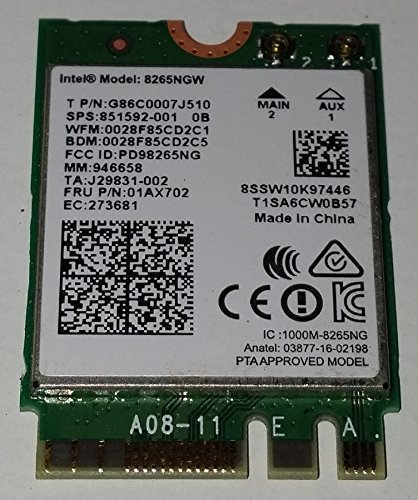 Price comparison product image Intel AC 8265 Internal WLAN/Bluetooth 867Mbit/s
