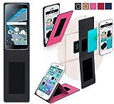 BlackBerry DTEK 50 Hülle in pink - innovative 4 in 1 Handyhülle - Anti-Gravity Wandhalterung KFZ Halterung Tischaufsteller Schutzhülle - Handyhalterung für Auto und Wand ohne Werkzeug oder Kleber - Case Cover Tasche Etui Bumper für das Original BlackBerry DTEK 50 von reboon