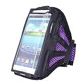 Terzsl Sportarmband Handytasche Schutzhülle für iPhone 6 Samsung Galaxy S4, violett