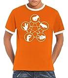 Touchlines Big Bang Theory Men's Ringer Contrast T-Shirt Stone Scissors Paper Lizard Spock