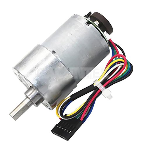 ELECTROPRIME® Aluminum Gear Motor with Encoder 24V DC High Torque Low Noise 12rpm