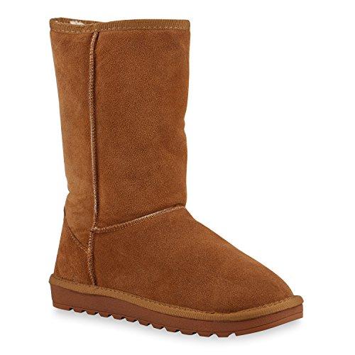 Damen Stiefeletten Leder Schlupfstiefel Boots Kostüm skostüm Indianer Fransen Squaw Pocahontas Schuhe 129764 Hellbraun Arriate 39 | (Keine Höhen Kostüm)