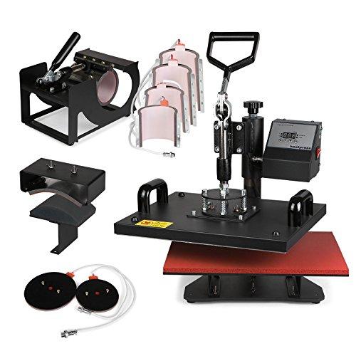 Lartuer Transferpresse Tassenpresse Cappresse T Shirtpresse Heat Press Machine 9 in 1 mit Einstellbarer Mehrfach federzug (9 in 1)