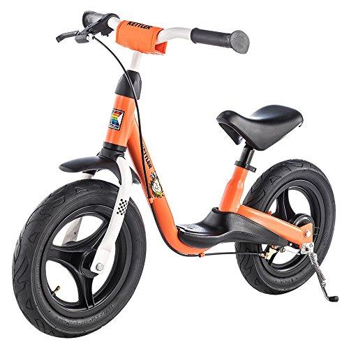 Kettler Laufrad Spirit Air Racing 2.0 das ideale & verstellbare Lauflernrad Kinderlaufrad mit Reifengröße:12,5 Zoll – mit Luftbereifung – stabiles & sicheres Laufrad ab 3 Jahren – orange & schwarz